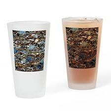 Mylonite mineral, light micrograph Drinking Glass