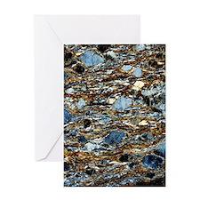 Mylonite mineral, light micrograph Greeting Card