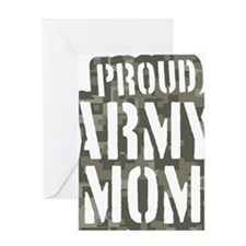 Proud Army Mom camo print Greeting Card