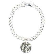 Proud Army Mom camo prin Charm Bracelet, One Charm