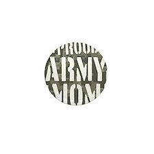 Proud Army Mom camo print Mini Button