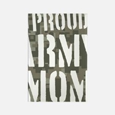 Proud Army Mom camo print Rectangle Magnet