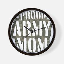Proud Army Mom camo print Wall Clock