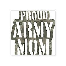 "Proud Army Mom camo print Square Sticker 3"" x 3"""