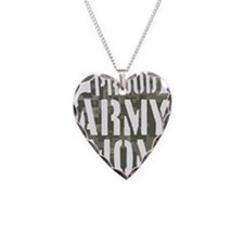 Proud Army Mom camo print Necklace