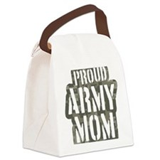 Proud Army Mom camo print Canvas Lunch Bag