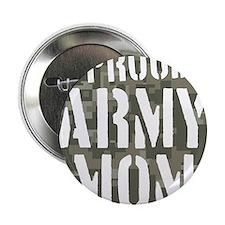 "Proud Army Mom camo print 2.25"" Button"