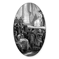 Hypnosis demonstration, 19th centur Decal
