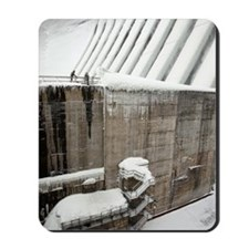Hydroelectric dam in winter Mousepad