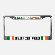 Irish Driver Behind The Wheel License Plate Frame