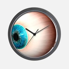 Human eyeball, artwork Wall Clock
