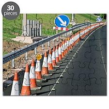 Motorway traffic cones Puzzle