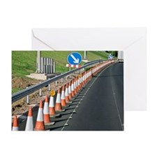 Motorway traffic cones Greeting Card