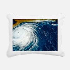 Hurricane Floyd Rectangular Canvas Pillow