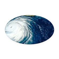 Hurricane Floyd Oval Car Magnet