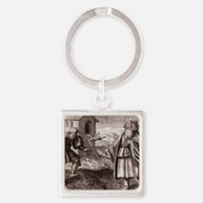 Morienus the Greek and Khalid ibn  Square Keychain