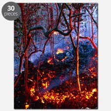 Hot ash from Kilauea volcano Puzzle