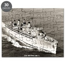 uss hector framed panel print Puzzle