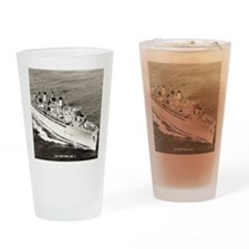 uss hector framed panel print Drinking Glass