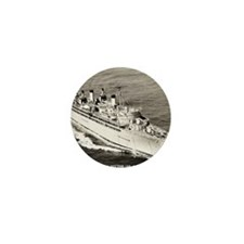 uss hector framed panel print Mini Button