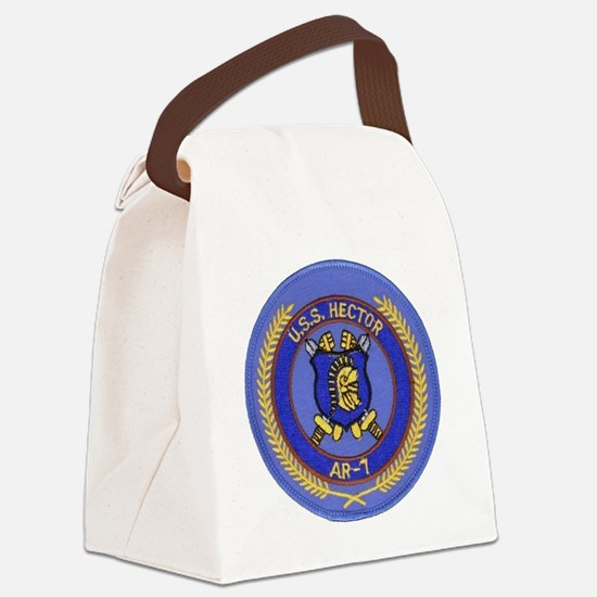 uss hector patch transparent Canvas Lunch Bag