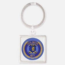 uss hector patch transparent Square Keychain