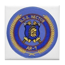 uss hector patch transparent Tile Coaster