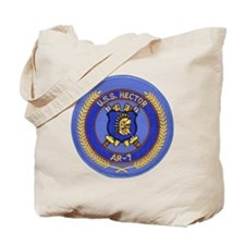 uss hector patch transparent Tote Bag