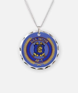 uss hector patch transparent Necklace