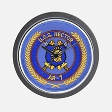 uss hector patch transparent Wall Clock