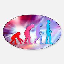 Human evolution Sticker (Oval)