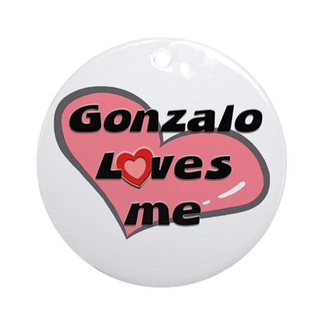gonzalo loves me Ornament (Round)