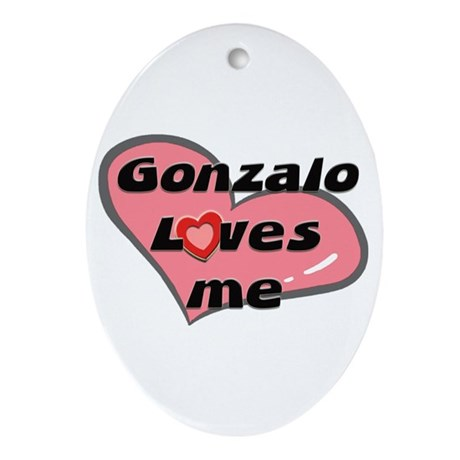 gonzalo loves me Oval Ornament