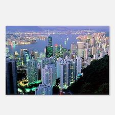 Hong Kong at dawn Postcards (Package of 8)