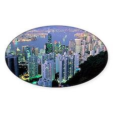 Hong Kong at dawn Decal