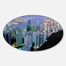 Hong Kong at dawn Decal
