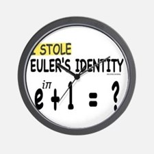 I stole Eulers Identity Wall Clock
