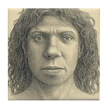 Homo heidelbergensis female Tile Coaster