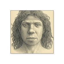 "Homo heidelbergensis female Square Sticker 3"" x 3"""