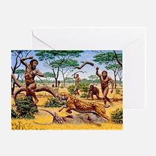Homo ergaster hunting group Greeting Card