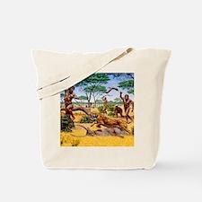 Homo ergaster hunting group Tote Bag