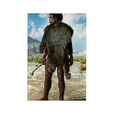 Homo erectus, artwork Rectangle Magnet