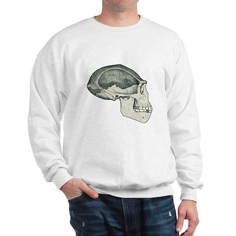 Homo erectus skull Sweatshirt