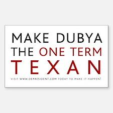 One term Texan (White)