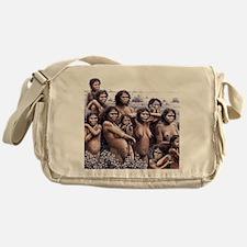 Homo ergaster females and young Messenger Bag