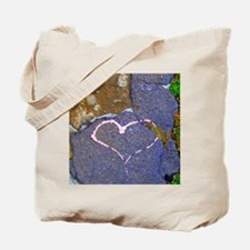 heart in stone Tote Bag