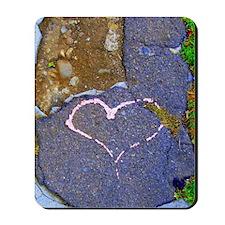 heart in stone Mousepad
