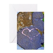 heart in stone Greeting Card
