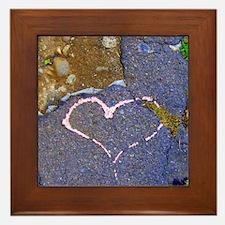 heart in stone Framed Tile
