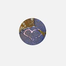 heart in stone Mini Button
